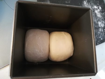 食パン型に入れる