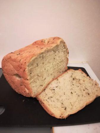 バジル食パン断面図