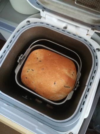 パンケーキにバジルパン