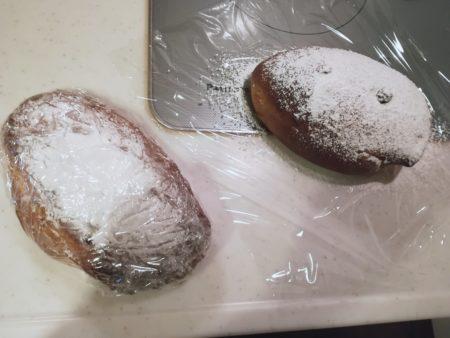 粉砂糖をかける